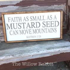 Faith as Small as a Mustard Seed can Move by TheWillowRabbit