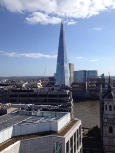 The shard shining bright! Tallest building in Europe.