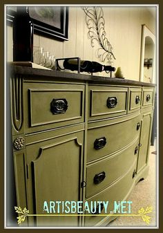 Head On Over And Check Out My Rescued Federal Style Buffet Makeover
