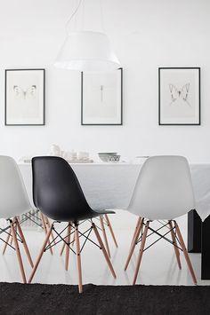 Ik ben groot fan van de Eames stoelen. Het design is tijdloos , maar de prijs is minder leuk, daarom laat ik hier een budget variant zien