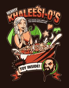 Heart Khaleesi-o's, with dragon, heart, moon and star-shaped marshmallows ! Free Toy Inside ! Game Of Thrones