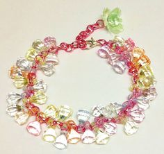 Upcycled  candy crystal charm bracelet by LovelyRuthies on Etsy, £5.00