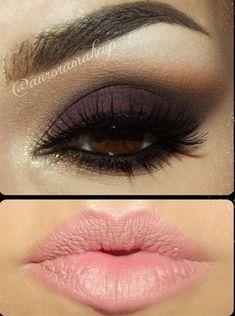 Smokey eye purple.