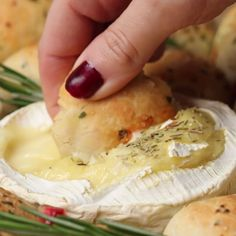 Camembert and Garlic Dough Balls