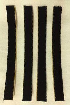 """(4) OVER-SIZED VPI Replacement Strips 3/8"""" x 4"""" Velvet/3M Felt Strip for wand #VPI3M"""