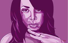 11x17 Hip Hop R Art Print Cubism Purple by chameleonartdesigns, $25.00