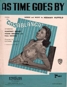 As Time goes By from #CasaBlanca #sheetmusic by H. Hupfield arranged for #piano #vocal #guitarchords #singerpro #musicnotes #jazz #jazzstandard #jazzclassic #jazzsheetmusic #affiliate