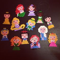 Disney Princess hama beads by hellokelliex