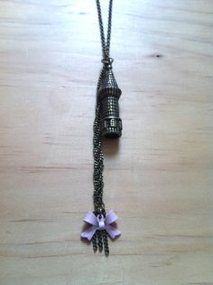"Rapunzel ""Let Down Your Hair!"" Tower with Braid and Bow Necklace - Tangled #princess #Disney"