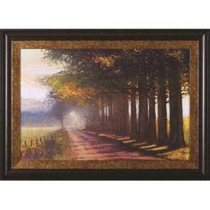 Art Effects Sunset Highway by Amanda Houston Framed Painting Print