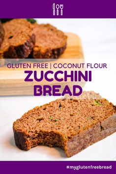 Hands down one of the best quick breads ever, this coconut flour zucchini bread is incredibly moist with a freshness you can taste. Gluten Free Muffins, Gluten Free Snacks, Gluten Free Baking, Gluten Free Recipes, Coconut Sugar, Coconut Flour, Best Comfort Food, Comfort Foods, Zucchini Bread Recipes