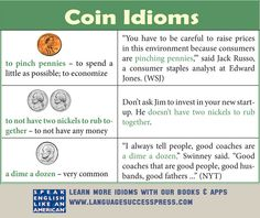 Cha-ching! These coin idioms will help add some richness to your English! ESL