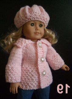 free knitting patterns for american girl dolls clothes