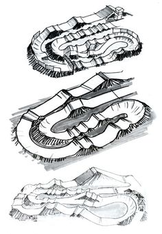 BMX track designs... Very satisfying curves, no?