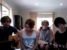 5 Seconds of Summer  - Year 3000 they all look so young especially Calum ❤I love Michael with his black hair now