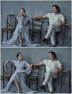 Angelina Jolie & Brad Pitt photographed by Peter Lindbergh for Vanity Fair Italy, November 2015.