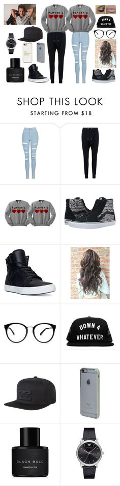 """I JUST WANT TO BE YOURS"" by jblover-1fan on Polyvore featuring Topshop, Balmain, Vans, Supra, Billabong, Incase, Kenneth Cole, Emporio Armani and BaubleBar"