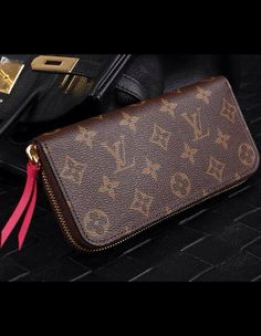 94a1744a145d Louis Vuitton Monogram Canvas Clemence Wallet Fuchsia M60742 sale at USD  135. Free Wordwide Shipping