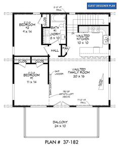 Granny pods with loft - Garrell Associates, Inc. Contemporary House Plans, Modern House Plans, Small House Plans, Garage Apartment Plans, Garage Plans, Barn Garage, Garage House, Shed Roof Design, Tiny House Design
