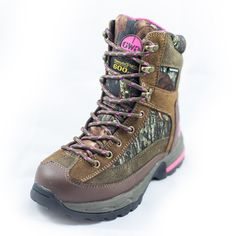 """Girls with Guns Mossy Oak Camo Womens/Ladies """"The Tigress"""" 8"""" Insulated Hunting Boot 