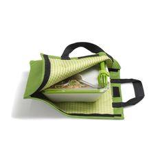 BOX APPETIT Lunch box bag (insulated), designed by black blum. Opens to become a placemat or blanket to sit on. A cool, stylish way to carry your lunch to work.