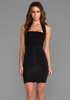 AQ/AQ Bibi Mini Dress in Black - Black