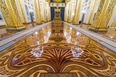 St. Andrew's Hall - inside de Kremlin palace. Podłogi wewnątrz Kremla