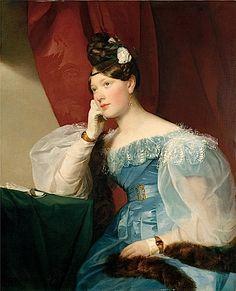 1832 Julie Grafin von Woyna by Friedrich von Amerling