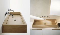 Bathroom Design Idea - Install A Wood Sink For A Natural Touch