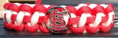 St Louis Cardinals Paracord Bracelet with Officially Licensed Charm #Cardinals #STL #StLouisCardinals #MLB #Baseball