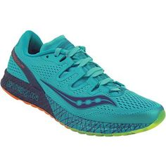 Saucony Freedom Iso Running Shoes - Womens Blue Citron