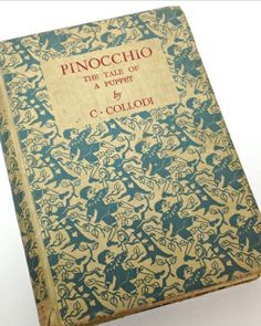 Antique Vintage Pinocchio Book, this is such a children's classic!   Found on BellaRosaAntiques.com