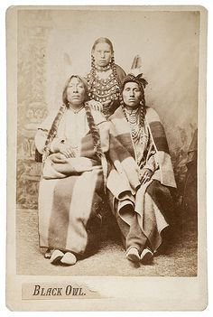 111B. D. F. Barry Cabinet Card of Black Owl, Gros Ventre, (2007, American Indian and Western Art, March 31)