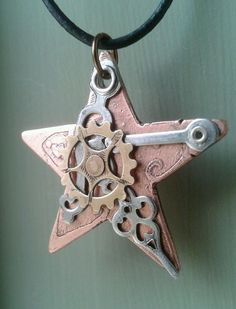 Copper Star Pendant no3 by ColdGarageCreations on Etsy, $13.00