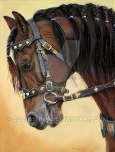 Horse portrait by sschukina on DeviantArt