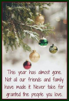 So many of my friends have lost loved ones this year, from a young child to a great grandparent I know this Christmas will be hard for them!!
