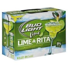 Bud Light Lime Lime-A-Rita Beer Cans 8 oz, 12 pk