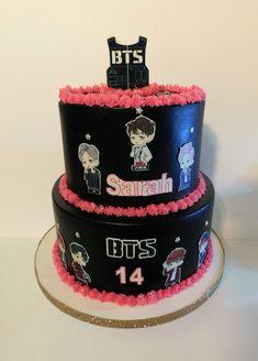 birthday k pop cake 12th Birthday, Birthday Cupcakes, Happy Birthday Me, Bts Cake, Bts Birthdays, Sweet 16 Cakes, Album Bts, Cake Cookies, Amazing Cakes