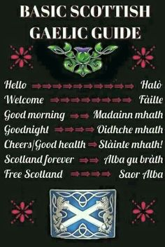 basic phrases in Scots Gaelic-- wait . Have I already pinned this? I must need to go to Scotland Outlander, Scotch, Glasgow, Edinburgh, Gaelic Words, Scotland History, Thinking Day, Scottish Highlands, Viajes