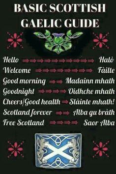 Basic Scottish Gaelic Guide