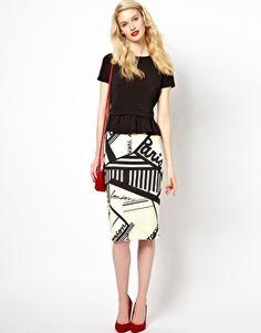 Sonia by Sonia Rykiel Graphic Print Jersey Skirt