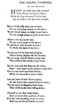 THE SAILOR'S FAREWELL, (Part 1) The Naval Chronicle, Vol. 10 Jul-Dec 1803