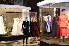 Exhibit of The Queen's clothes - wish I could see it in person.