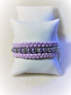 """Bracelet """"La petite manchette violette"""" : Bracelet par les-breloques-de-bel"""