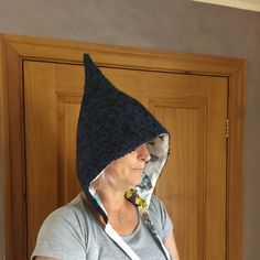 Items similar to Adult pixie hat / hood, wool and linen, butterflies and moths. on Etsy Pixie, Butterflies, Wool, Sewing, Children, Hats, Clothing, Christmas, Handmade