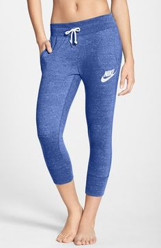 Nike 'Gym Vintage' Capri Sweatpants available at #Nordstrom