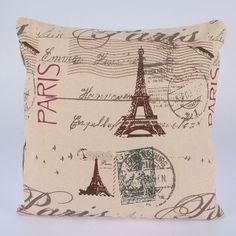 Povlak na polštář Eiffelovka Vintage World Maps, Throw Pillows, Art, Art Background, Toss Pillows, Cushions, Kunst, Decorative Pillows, Performing Arts