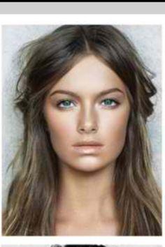 Make-up, ashy hair color