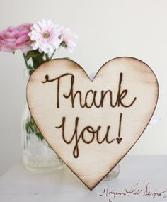 Thank You Engraved Wedding Sign Rustic Chic  Photo by braggingbags, $19.99