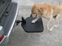 TWISTEP is the best way to provide a quick step up into your vehicle for your canine companion. TWISTEP installs in your Hitch Receiver, always ready to help – unlike a ramp or other step setup that you need to unload to use and then pack away again after use.